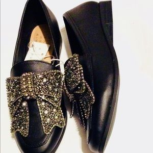 Loafers with Rhinestones Bow A New Day Size 6